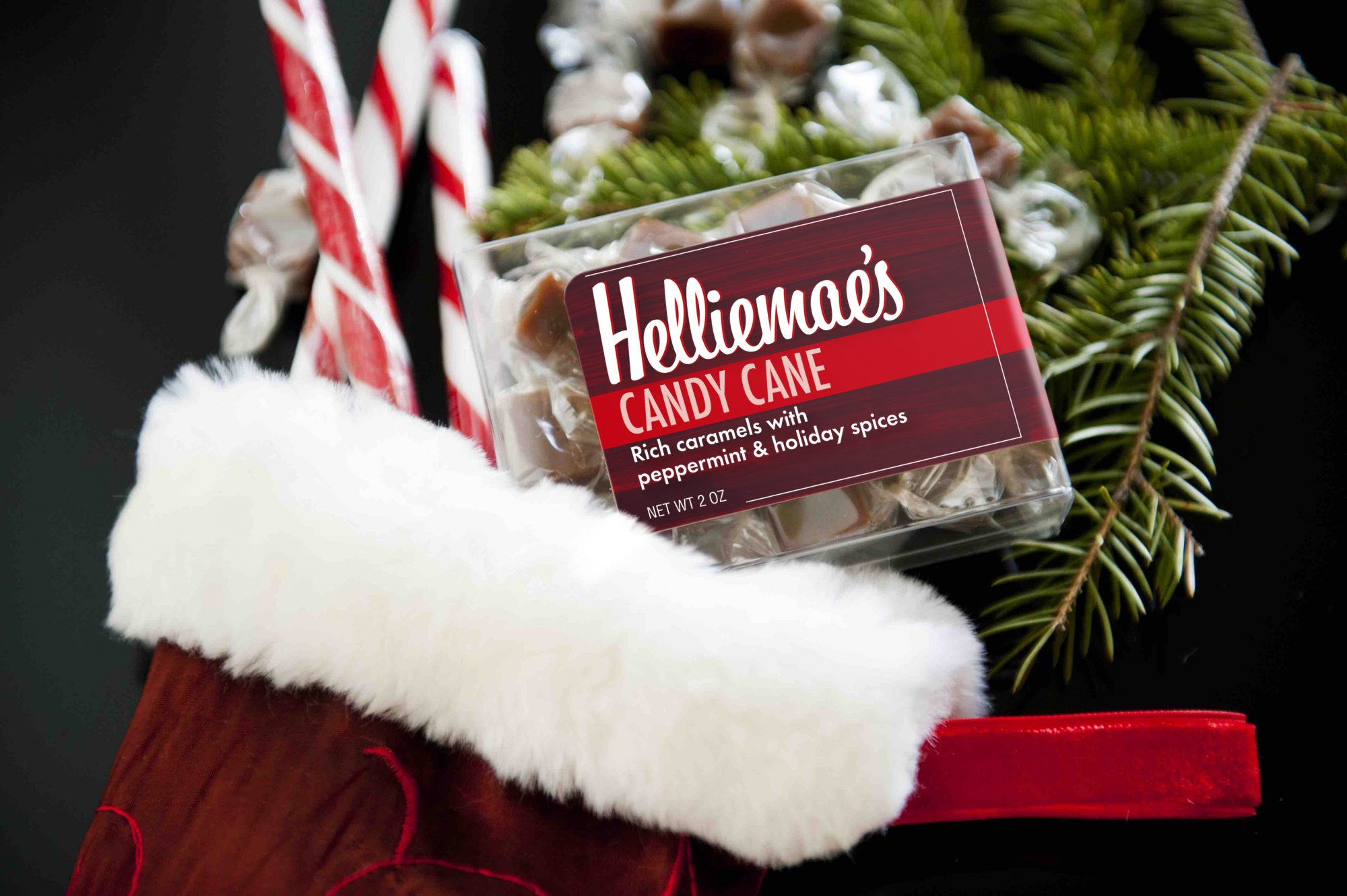 Candy Cane CaramelsFor the ultimate sweet treat or stocking stuffer, these salted caramels from Helliemae's make a great addition during the holidays.  These caramels have a sweet, smoky flavor and are infused with a delicious peppermint twist.