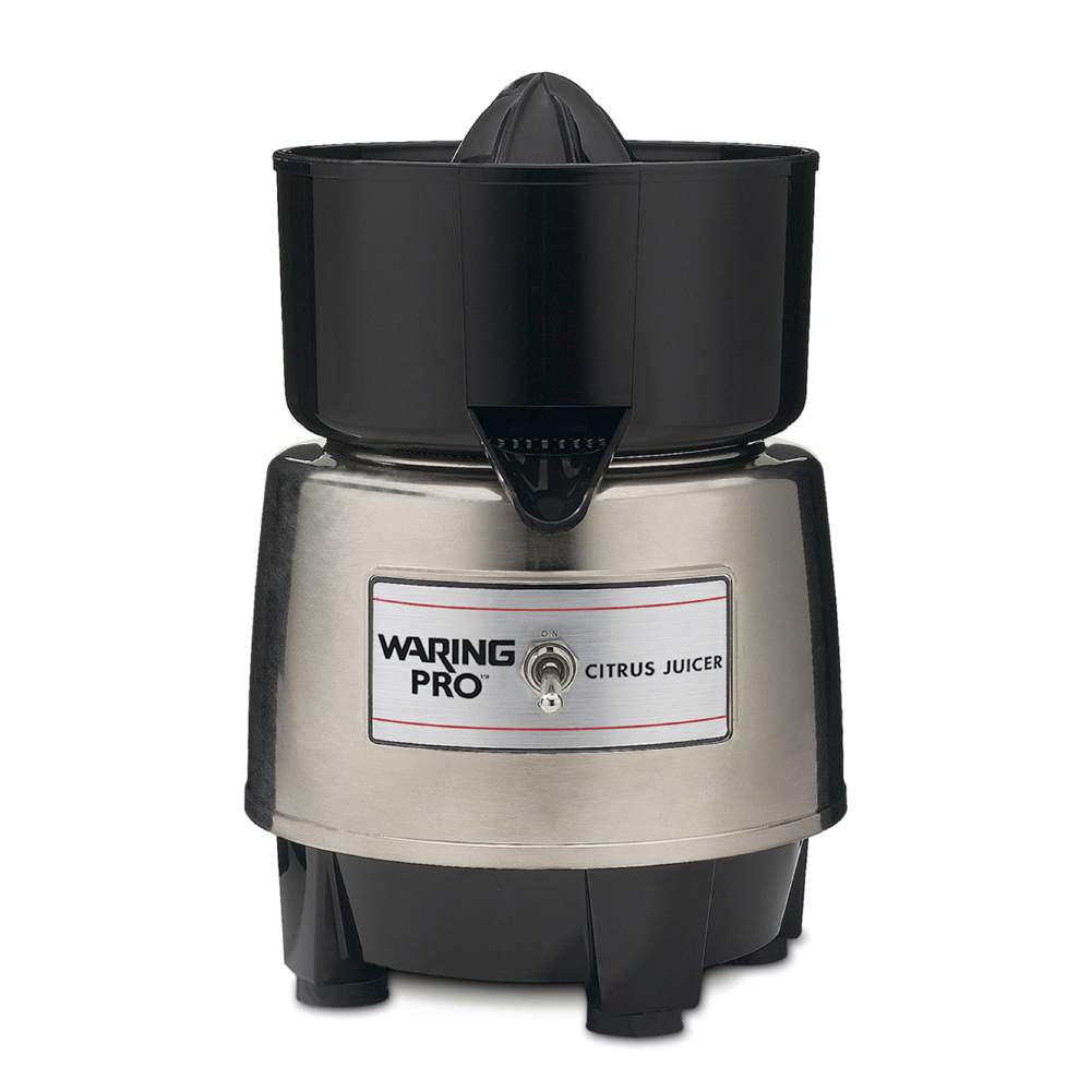 Waring Pro Citrus JuicerFor those who have a passion for citrus juices, let them give their arms a rest by gifting them a great electric juicer like this one. This juicer is powerful, compact, and easy to clean, and great for all types and sizes of citrus fruits.