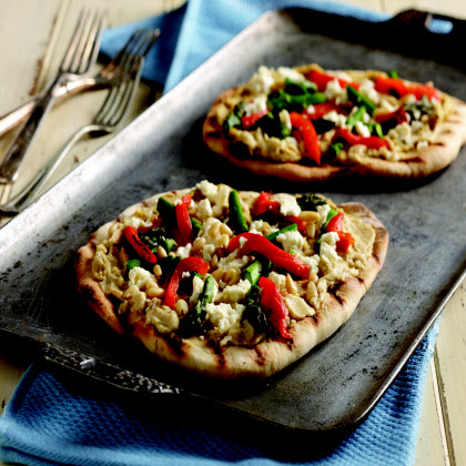Mediterranean Grilled Pizza
