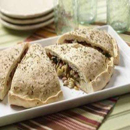 Spinach Artichoke and Ham Calzone