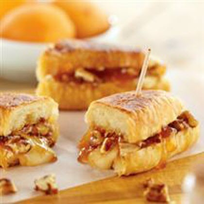 Melted Brie and Apricot Petite Croissants