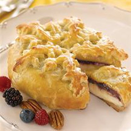 <p>Triple Berry Baked Brie</p>