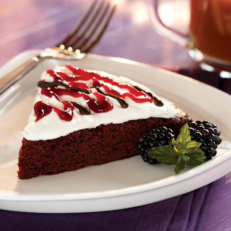 Blackberry Brownie Torte