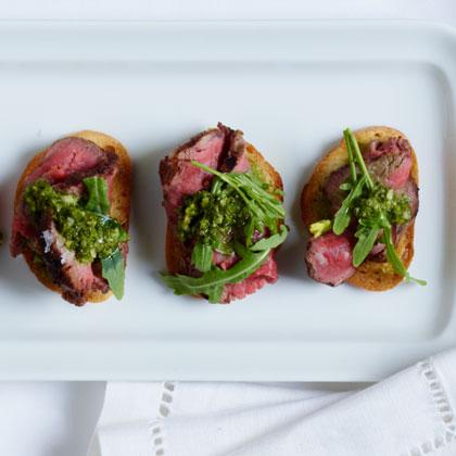 <p>Basque Beef Tenderloin Crostini</p>