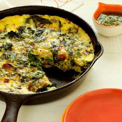 <p>Frittata with Ricotta and Mixed Greens</p>