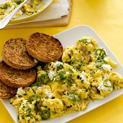 <p>Cheesy Cast-Iron Skillet Scrambled Eggs</p>