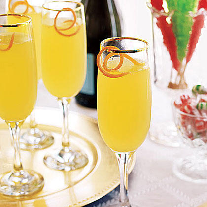 Citrus Champagne Cocktails Recipe | MyRecipes.com