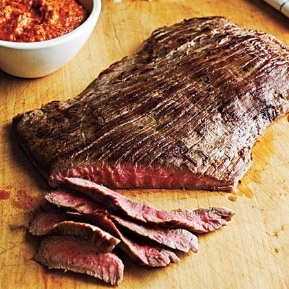 Flank Steak with Romesco Sauce