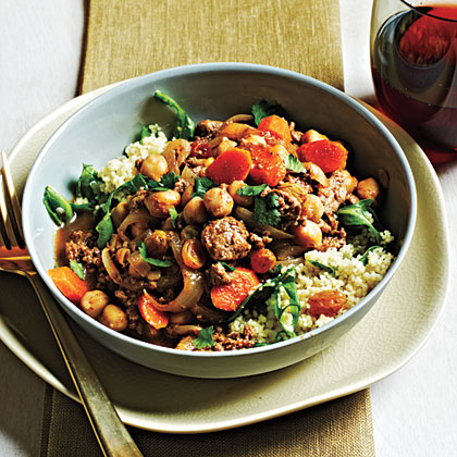 Moroccan-Style Lamb and Chickpeas is a great go-to choice for fast and flavorful weeknight cooking. Serve over a simple Couscous-Arugula Salad.Moroccan-Style Lamb