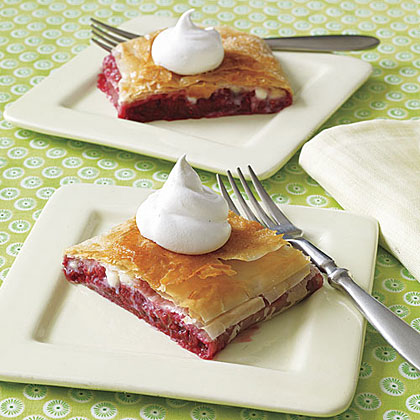 Raspberry and White Chocolate Strudel