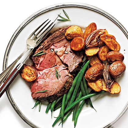 Rosemary-Dijon Crusted Standing Rib Roast Recipe