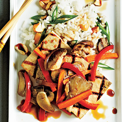 Tofu Steaks with Shiitakes