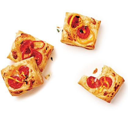 Tomato-Baby Bell Pepper Tartlets