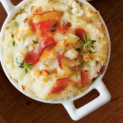 Bacon and Blue Mashed Potato Bake