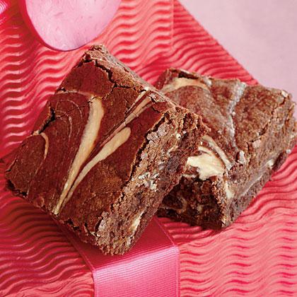 Bourbon-Cream Cheese Brownies
