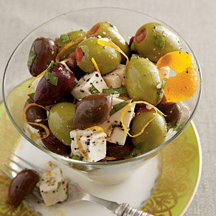 Citrus-Marinated Feta and Olives