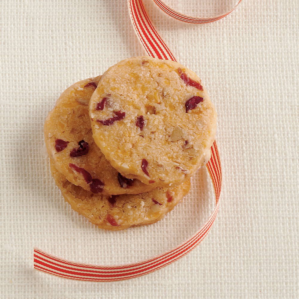 Cranberry-Pecan Cheese WafersRecipe