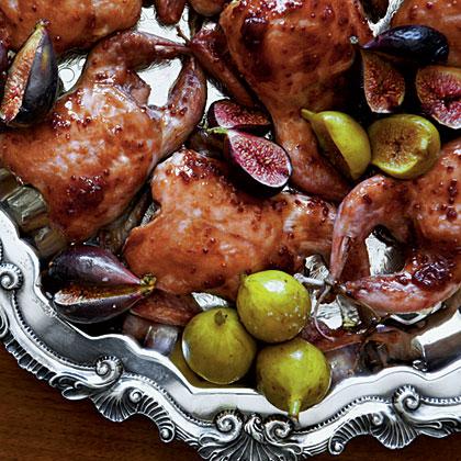 Fig-and-Balsamic-Glazed Quail