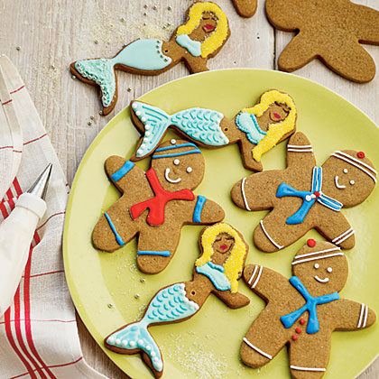 Gingerbread Sailors and Mermaids