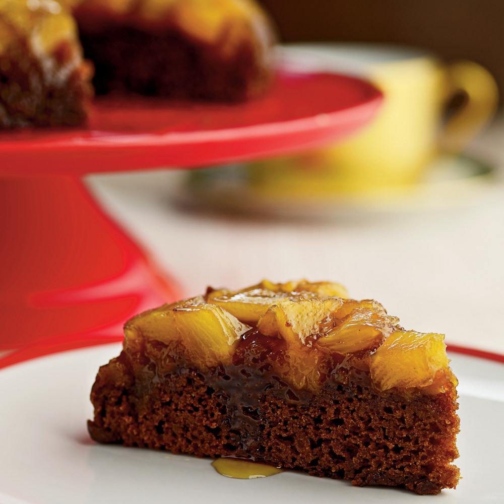 Pineapple Upside-Down Gingerbread Cake