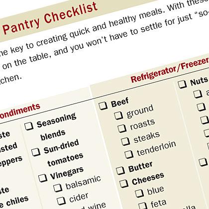 Pantry Checklist