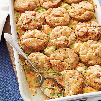 Chicken Pot Pie with Bacon-and-Cheddar BiscuitsRecipe