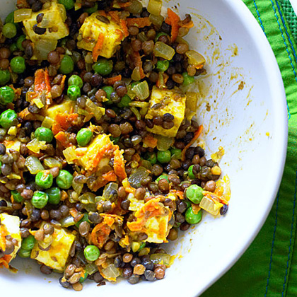 Curried Lentils with PaneerRecipe