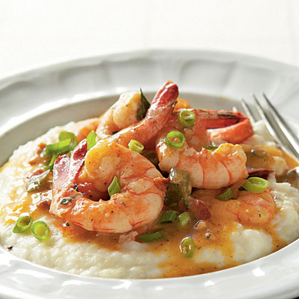 Shrimps grits and a handjob