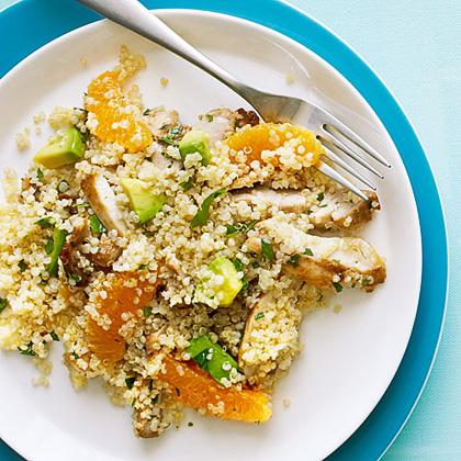 Quinoa Salad with Chicken, Avocado, and Oranges