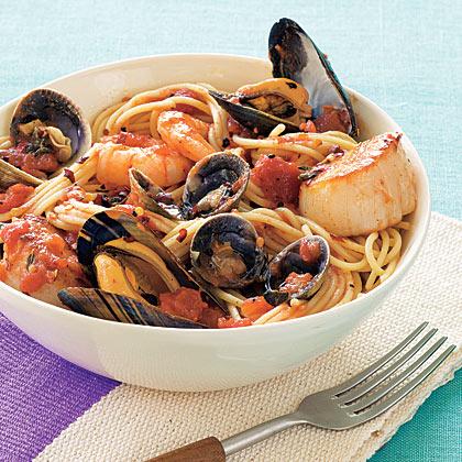 Scoglio seafood pasta recipe myrecipes scoglio seafood pasta forumfinder Images