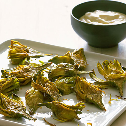 Sesame Fried Artichokes RecipeThis easy-to-eat appetizer borrows from Roman-style fried artichokes and adds Asian flavors. They're a snap to whip up.