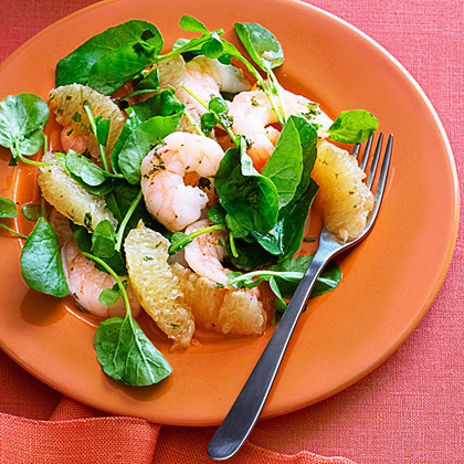 Southeast Asian Grapefruit and Shrimp Salad