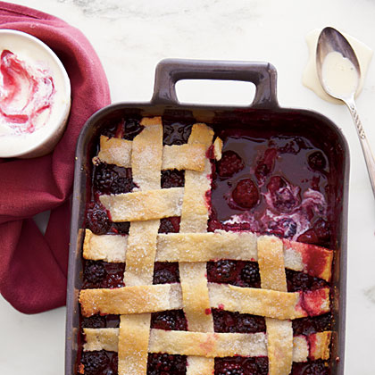 Winter Blackberry Cobbler