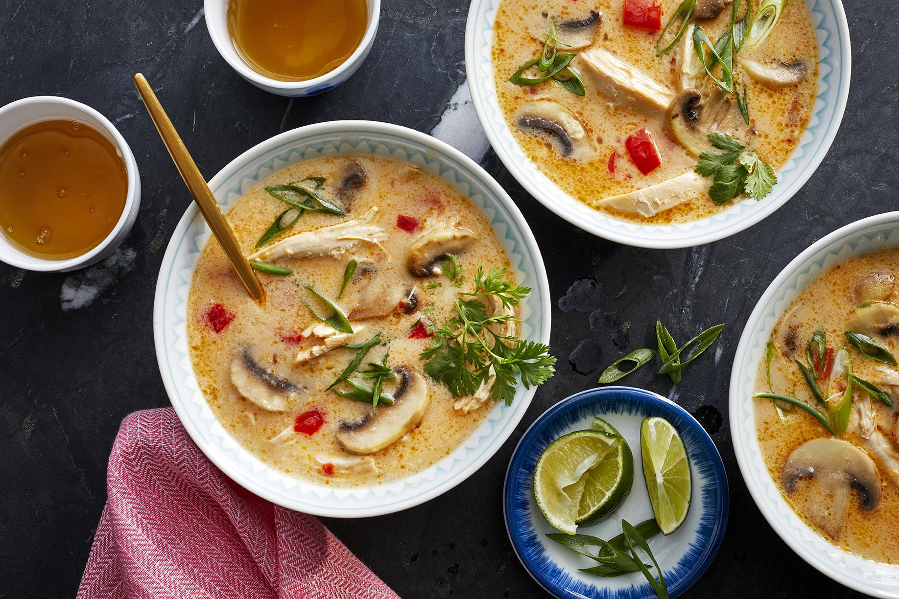 Spicy Thai Coconut Chicken Soup image