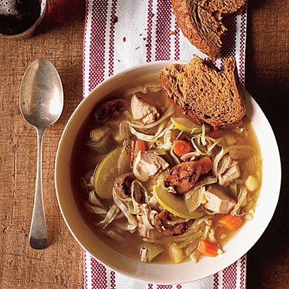 Chicken Soup with Cabbage and AppleRecipe