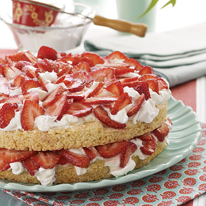 Healthy Strawberry Shortcake Waffles