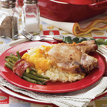 Hashbrown-Pork Chop Casserole