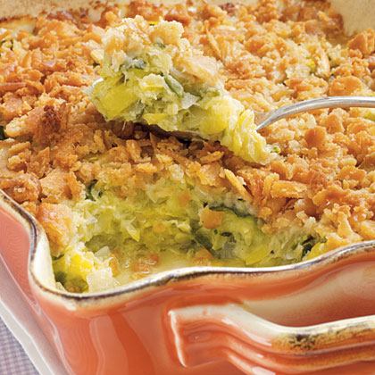 Mom's Squash Casserole RecipeMake it just like mom's with this easy squash casserole recipe. A cracker crumb top and a drizzle of butter are sure to make this a crowd favorite.