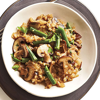 Mushroom-Brown Rice Risotto Recipe