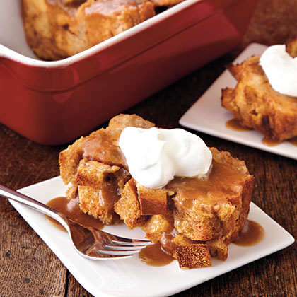 Bread Pudding with Salted Caramel Sauce