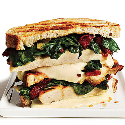 Rosemary-Chicken Panini with Spinach and Sun-Dried TomatoesRecipe