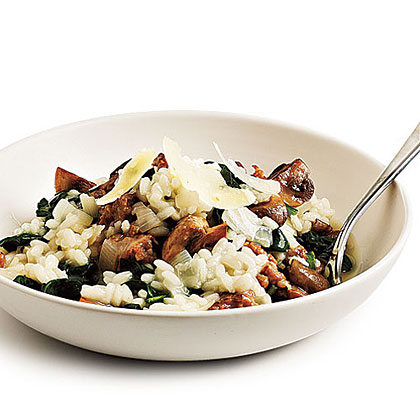 Sausage and Spinach Risotto