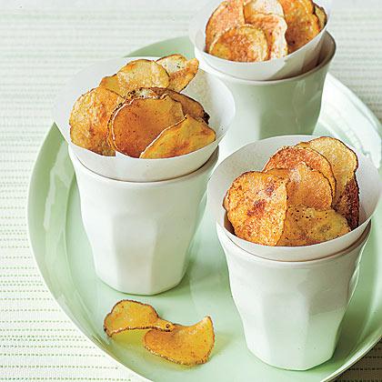 Smoky Oven-Baked Potato Chips