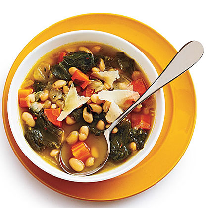 """""""Quite tasty. I have never cooked with the cheese rind before but it lends a nice flavor to the soup and I would certainly be disposed to repeating this recipe. It was good to the last bowlful."""" —Ms.LaurieTuscan White Bean Soup with Escarole Recipe"""