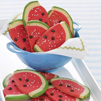 Watermelon Slice CookiesRecipe