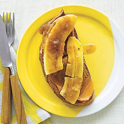 Broiled Banana on Toast