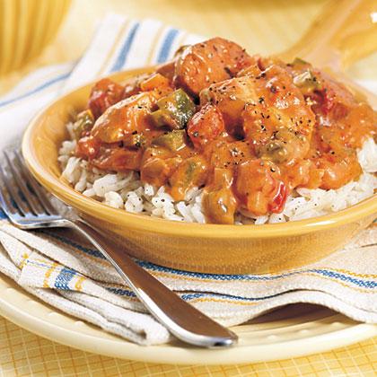 Chicken and Sausage Etouffee Recipe