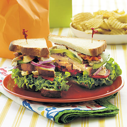 Cobb Sandwiches RecipeThese Cobb Sandwiches are an easy option for a busy weeknight meal. If you don't have time to fry bacon, bacon bits are convenient to use...just mix them with the blue cheese dressing.