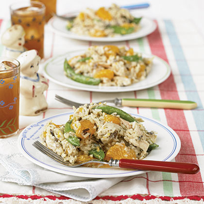 Orange-Wild Rice Chicken Salad RecipeHeads up! This isn't your ordinary chicken salad...it's better! This salad boasts wild rice, sugar snap peas, and mandarin oranges.