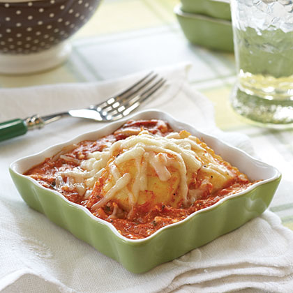 Ravioli Casserole RecipeGive frozen ravioli a flavor boost with extra spaghetti sauce and layers of 3 different cheeses. Once your family tastes this ravioli, there will be no more requests for the canned variety!